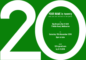 20th Birthday A4 template