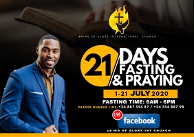 21 days fasting flyer Postcard template