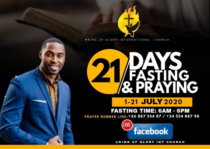 21 days fasting flyer