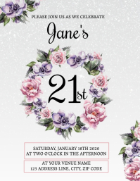 21st Birthday Invitation Template