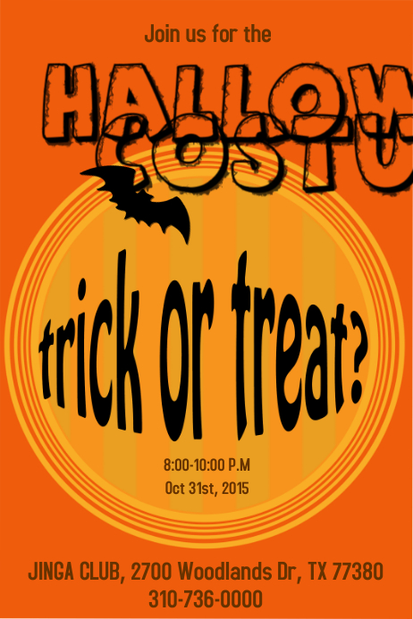 Halloween Party Poster/Flyer