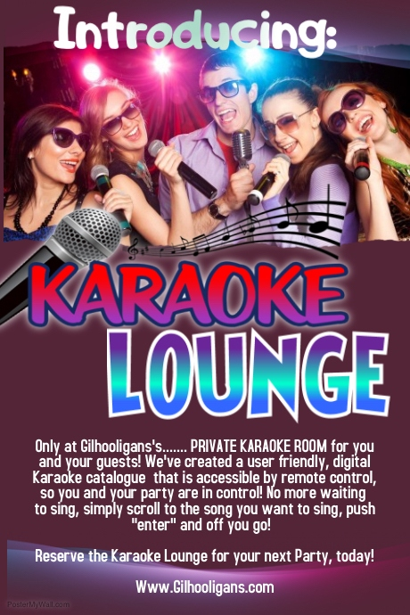 Copy of Karaoke Lounge notice