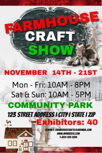 Farmhouse Craft Show Event Template