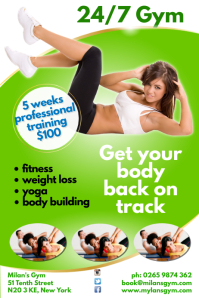 24/7 Gym Poster
