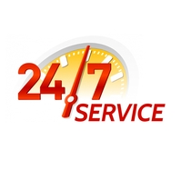 24/7 Service Logo template