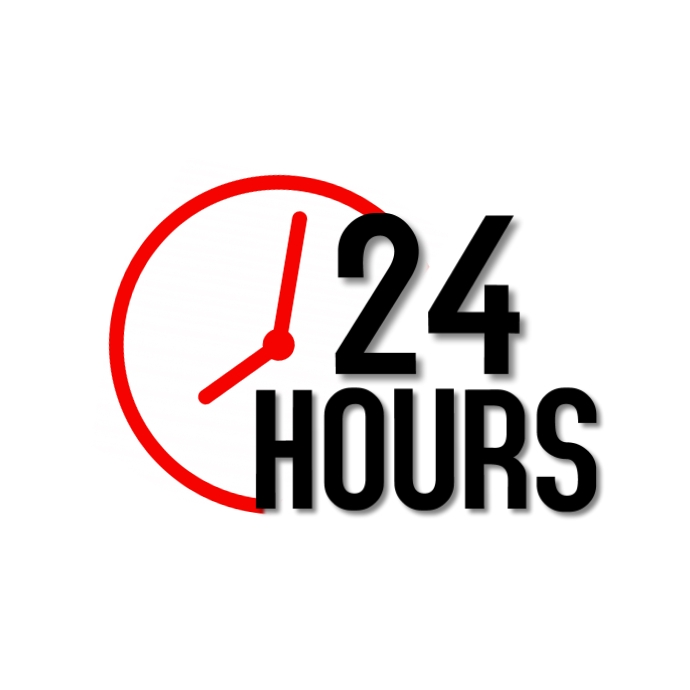 24 Hours Service Logotipo template