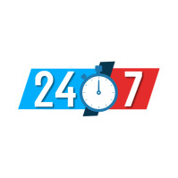 24 Hours Service Logo template