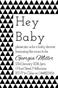 Geo Baby Invite