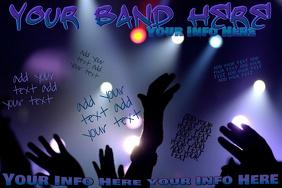 Band Bar Concert Crowd Club Venue Lights Flyer