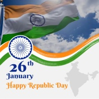 26 January Republic Day Instagram Post template