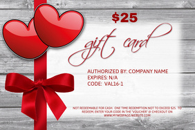 Valentine's Gift Card Template