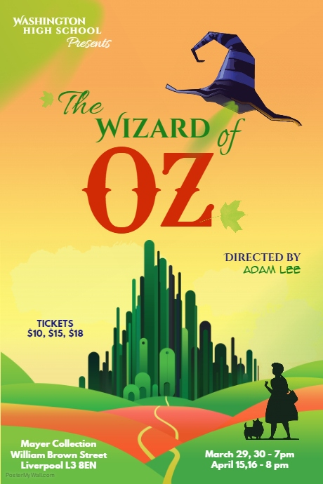 Wizard of Oz Poster Template