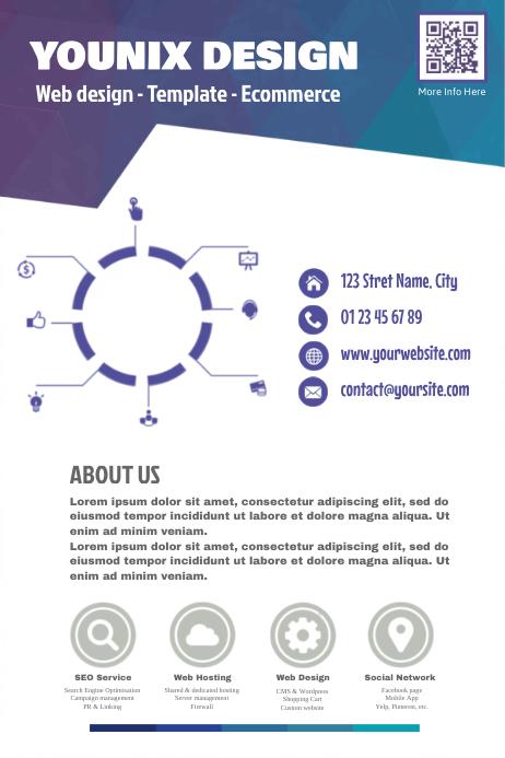 Original marketing flyer for web design agency