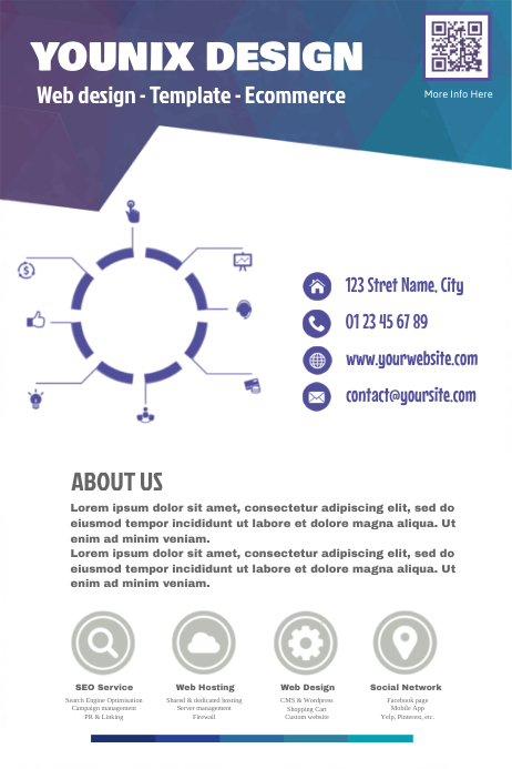Original marketing flyer for web design agency