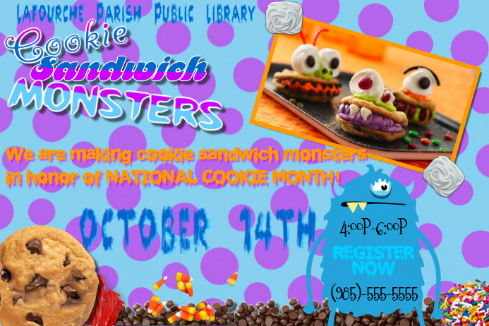 Monster Mash Halloween Inc. Craft Holiday Event Community Children Party Flyer