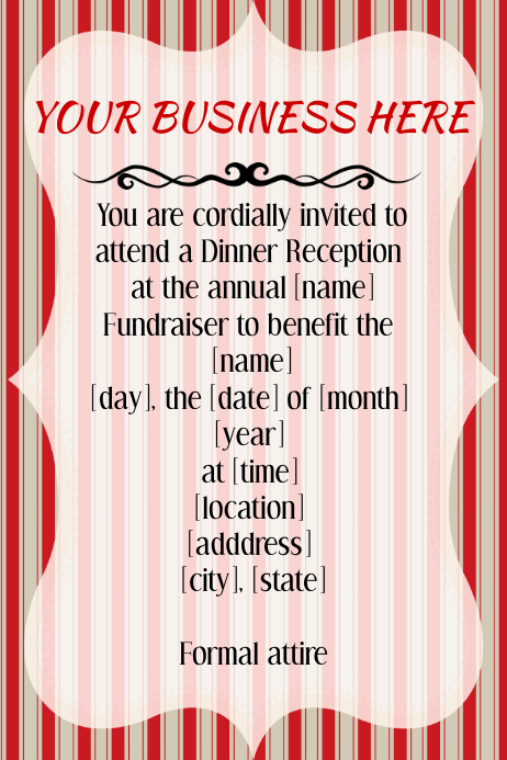 Christmas Holiday Business Invitation Flyer Template