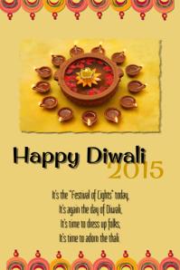 Happy Diwali Poster template