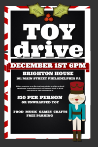 Customizable Design Templates For Christmas Toy Drive Postermywall
