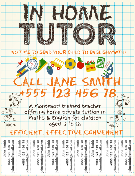 Tutor Services Template with Tabs
