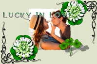 Vintage Postcard--Lucky In Love