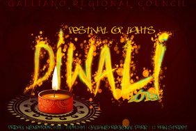 Diwali Celebration Event Holiday Festival of Lights Flyer Poster Ad