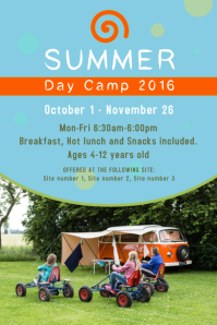 Summer Camp Poster Template