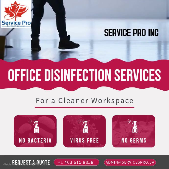 Disinfection Business Ad Square Video template