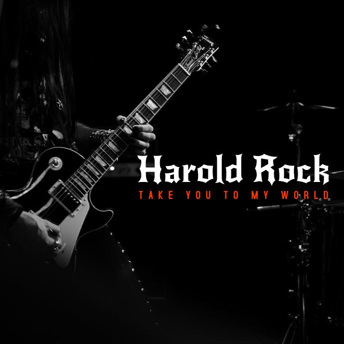Rock Music Album Cover Template