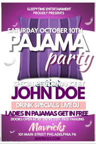 customizable design templates for pajama party postermywall