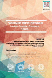 Marketing flyer for creative agency