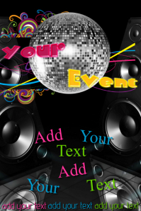 Disco Ball Club DJ Band Bar Venue Party Event Poster Flyer