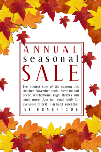 FALL SALE RETAIL FLYER