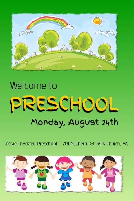 Customizable Design Templates For Preschool  Postermywall
