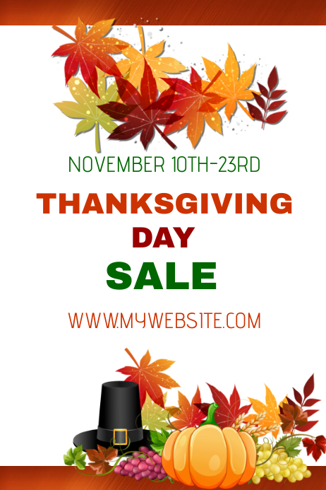Thanksgiving Day Sales Event Template Postermywall
