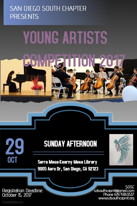 YOUNG ARTISTS COMPETITION 2017 FLYER
