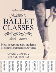 Ballet Dance Classes Template with Tabs