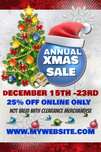 Annual Christmas Sales Event Template