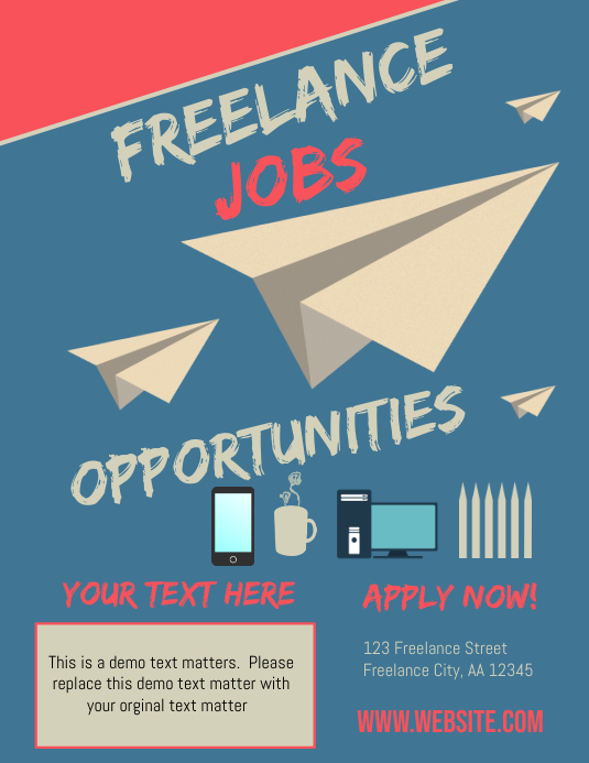 Freelance Jobs Template | PosterMyWall
