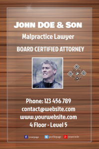 Door banner for any business: attorney, consultant, doctor, real estate agent
