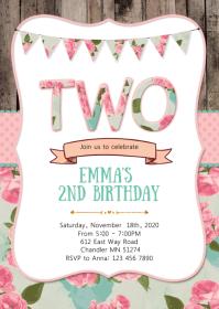 2nd birthday party invitation