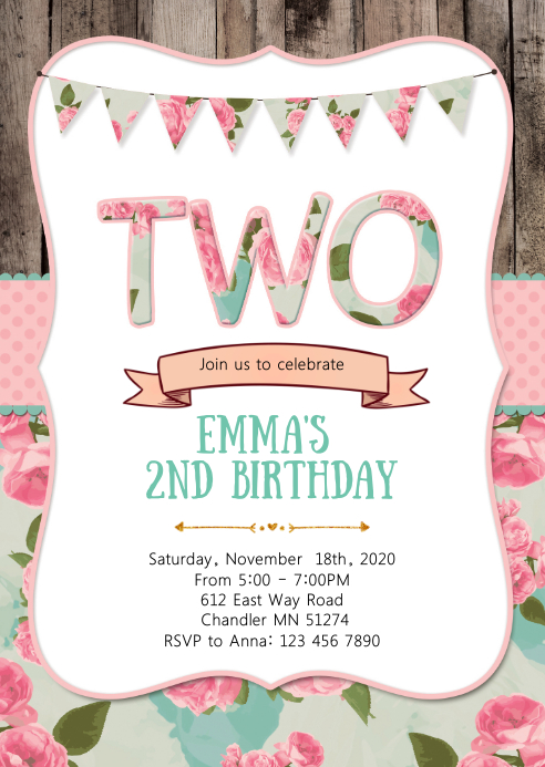 2nd birthday party invitation