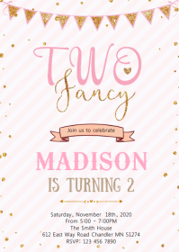 2nd birthday princess birthday invitation