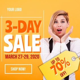 3 Day Sale Social Media Post Template