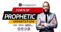 3 days prophetic delt Facebook-billede template