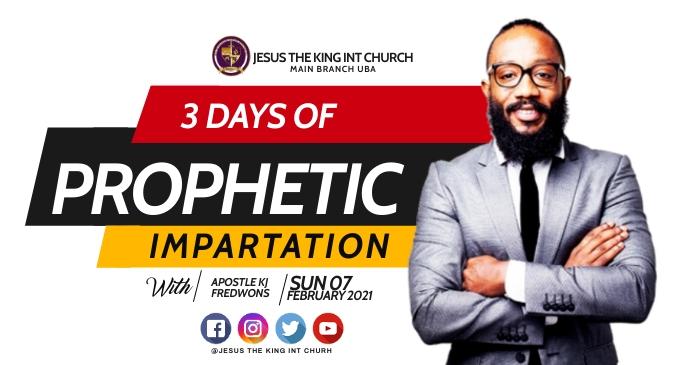 3 days prophetic Gambar Bersama Facebook template