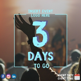 3 Days To Go Countdown Event Template