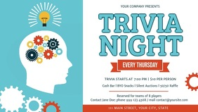 Trivia Night Event Facebook Cover Video Facebook-covervideo (16:9) template