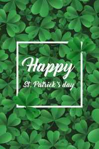 3 Leaf St Patrick's Day Poster template