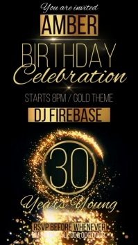 30 30TH BIRTHDAY PARTY DESIGN TEMPLATE Instagram Story