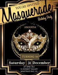 30 BIRTHDAY party invitation Template